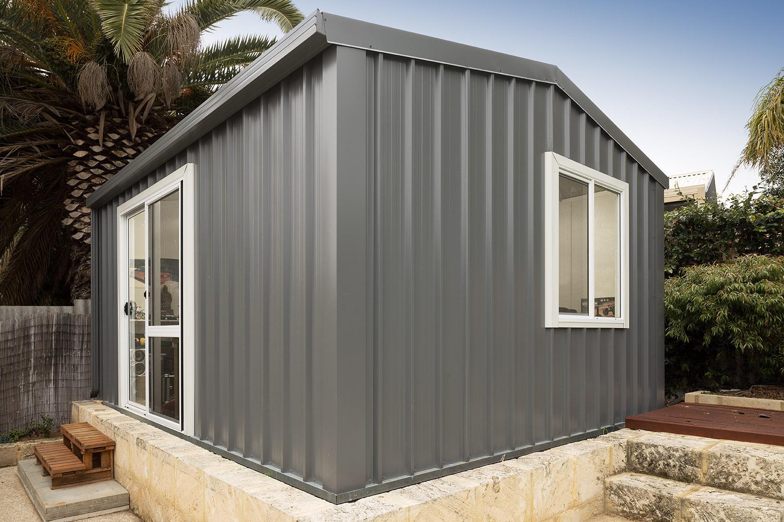 grey colorbond outdoor studio room