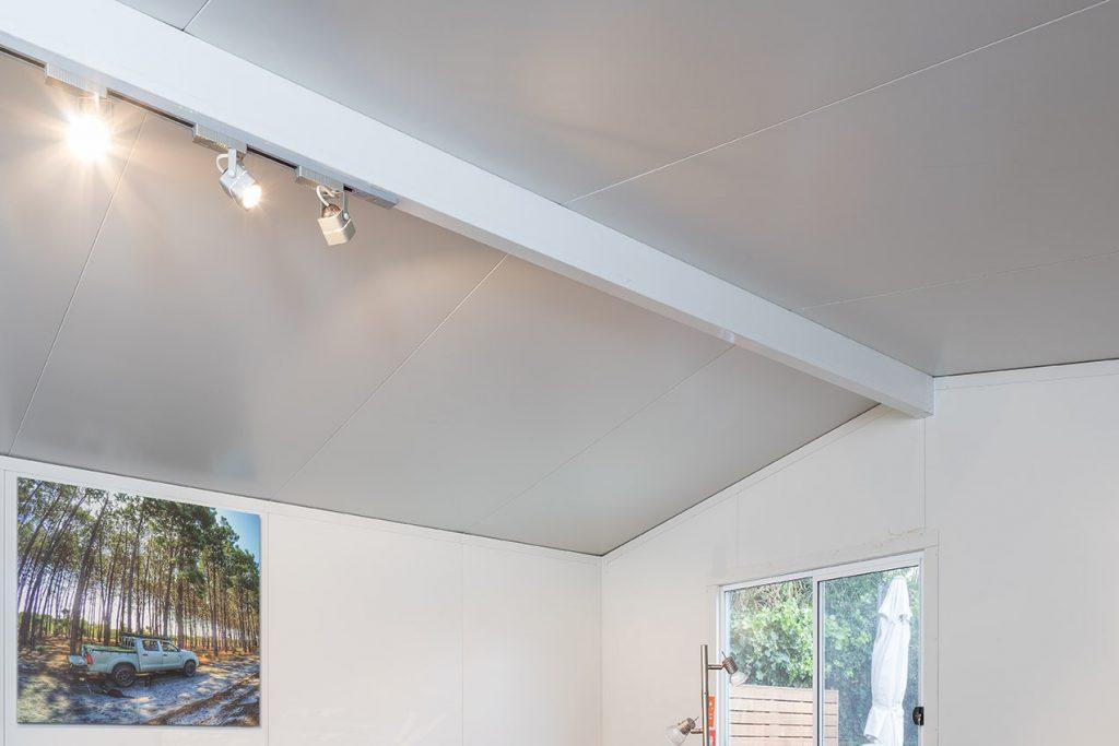 grey colorbond outdoor studio room interior