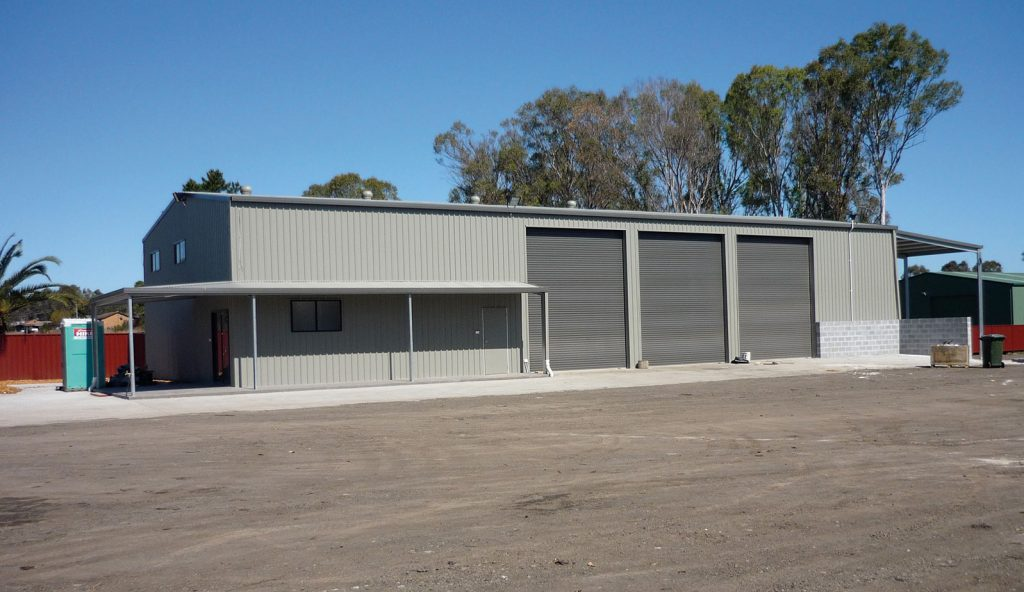 Farm Shed with Awning